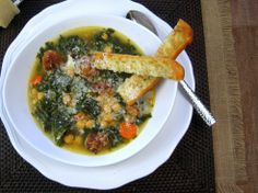 Herby Kale Soup with Chickpeas and Sausage - Just the Tip