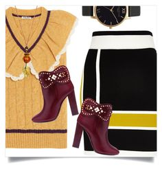 """Simple Fall"" by captainsilly ❤ liked on Polyvore featuring Miu Miu, River Island, Tory Burch and Olivia Burton"