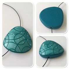 Polymer Beads, Polymer Clay Pendant, Polymer Clay Art, Polymer Clay Jewelry, 3d Printed Jewelry, Polymer Clay Creations, Clay Projects, Teal, Jewelry Making