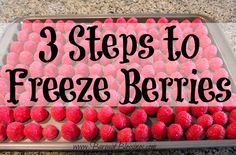 I knew there was an easier way to freeze berries! I was always skipping step #2! #summer
