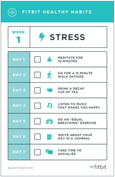 Some tips from Fitbit on healthy habits to combat stress. Healthy Mind, Get Healthy, Healthy Habits, Healthy Lifestyle Tips, Health And Wellness, Health Tips, Health Fitness, Lose Weight, Woman Workout