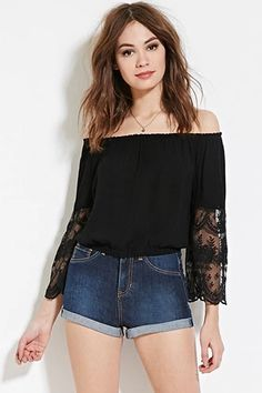 Lace-Paneled Top | Forever 21 #spring