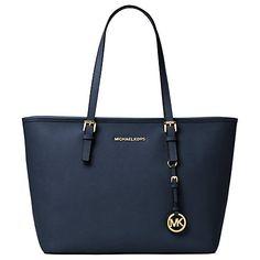Buy MICHAEL Michael Kors Jet Set Travel Large Leather Tote Bag Online at johnlewis.com