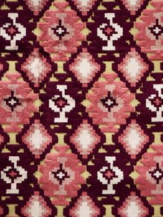 Kilim fabric PLUM #patterns #red-pink-purple #woven-fabrics