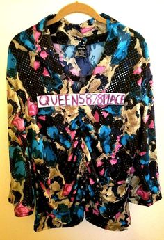 60b1b702f183b Rafaella Women XXL 2X Stretch blue pink Sequin Blouse Top Shirt Ruched 3 4  Sleee