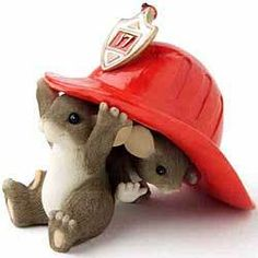 Charming Tails by Fitz and Floyd We're Here When You Need US Firefighter   eBay