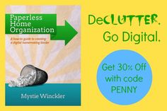 How to create a paperless home organization binder. Plus, save 30% with coupon code PENNY.