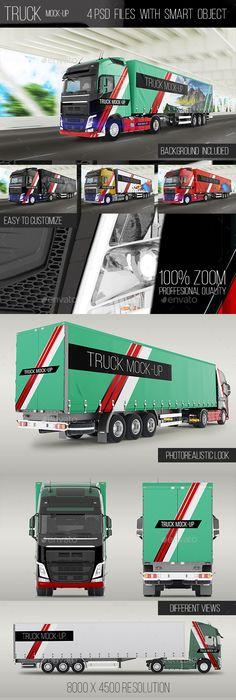 Truck Mock-Up #design Download: http://graphicriver.net/item/truck-mockup/14241557?ref=ksioks