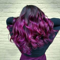 71 Black and Purple Ombre Waves