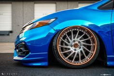 Chrome Blue Stanced Honda Civic Si Coupe by Avant Garde