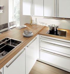 Jolie cuisine gris perle et bois ikea veddinge et - Protection plan de travail bois cuisine ...
