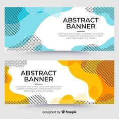 Abstract fluid banner template Free Vector