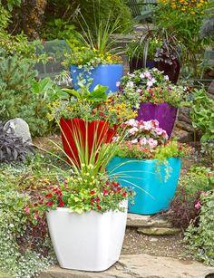 Viva Self-Watering Rolling Planter, Square Large Large Square Planters: Self-Watering Rolling Plante Large Square Planters, Large Flower Pots, Container Plants, Container Gardening, Plant Containers, Flower Containers, Hanging Planters, Planter Pots, Planter Ideas