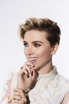 Scarlett Johansson Pixie Hair Inspo - All For Little Girl Hair Pixie Hairstyles, Short Hairstyles For Women, Pixie Haircut, Women Short Hair, Undercut Pixie, Wedding Hairstyles, Hair Inspo, Hair Inspiration, Short Hair Cuts