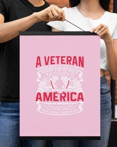 A Veteran America Is Someone Who At One Point - Classic Pink veterans day poster, diy veterans day gifts, veterans day art lessons #VeteransDayParade2017 #veteransdayspecial #veteransdaysale, dried orange slices, yule decorations, scandinavian christmas Veterans Day Quotes, Veterans Day Gifts, Veterans Day Activities, Hanging Canvas, Remembrance Day, Yule Decorations, Orange Slices, Scandinavian Christmas, Art Lessons