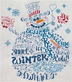 Winter Word Play (UM120) Embroidery Design by Ursula Michael