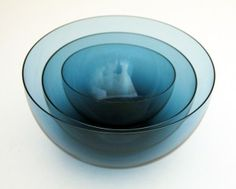 Kaj Franck Delicate Blown Glass Bowl Set