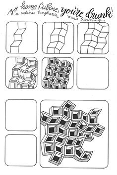 Zentangle Patterns Step By Step ; Zen Doodle Patterns, Doodle Designs, Zentangle Patterns, Zentangle Art Ideas, Easy Zentangle, Doodle Borders, Art Patterns, Zentangle For Beginners, Doodle Art For Beginners