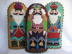 ~Check Out These Nutcrackers~      Texas Stitching Santa      Candy Canes                                     Falalalala      Santa Stand Ups      Gingerbread Village                                          Thimble Nativity      Nutcracker Trio