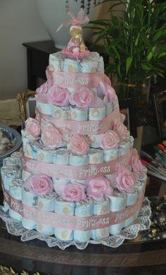 Diaper cake made by my friend E!
