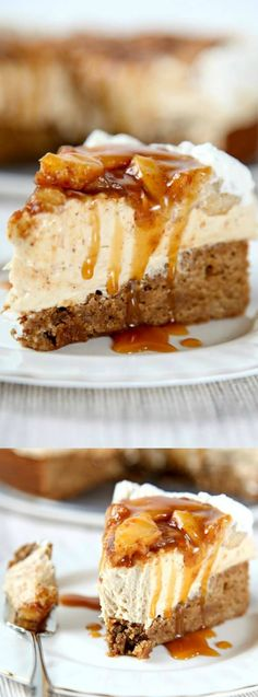 This Homemade Caramel Apple Cheesecake recipe from Baking Beauty is everything we love about fall desserts! It has an incredibly creamy cheesecake that's inside of a cinnamon blondie crust.