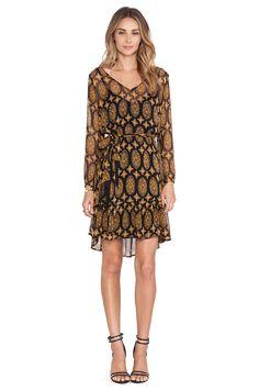 Ella Moss Silk Marigold Dress in Black