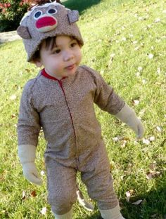 Parenting.com mom Allison from Kansas decided to have her son dress up like his best friend, his sock monkey, for #Halloween. So adorable!