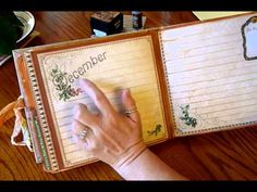 """Graphic 45 File Folder Date Book - YouTube (See her 4-part tutorial """"Making a File Folder Book"""""""