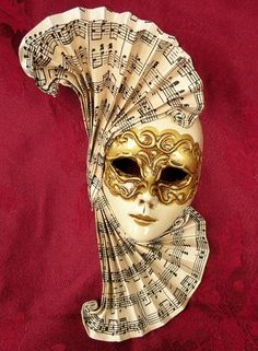 Beautiful sheet music mask