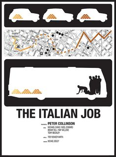 The Italian Job minimalist movie poster