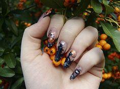 Halloween artificial nails