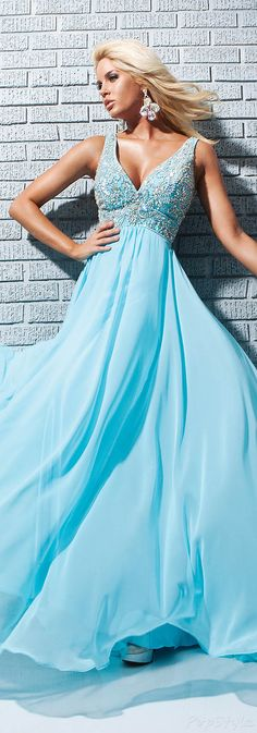 Tony Bowls Flowing Evening Gown