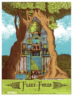 Fleet Foxes concert poster by The Silent Giants