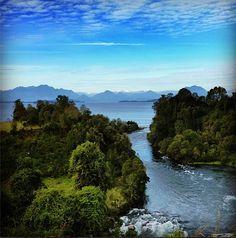 nacimiento del Rio Bueno #LagoRanco #Chile Patagonia, South America, Fishing, River, World, Places, Outdoor, End Of The World, Birth