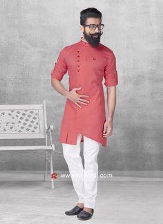 Stylish Peach Color Pathani Suit. #EIDSale2019 #Rajwadi #bestoffer #eid2019 #eidoutfits #eidmubarak #pathanisuit #designer #stylish
