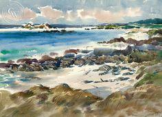 Mid Day Carmel, art by Art Riley – California Watercolor