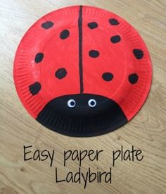 Paper plate Ladybird More - Easy Crafts for All Paper Plate Art, Paper Plate Animals, Paper Plate Crafts For Kids, Summer Crafts For Kids, Spring Crafts, Paper Plates, Paper Crafts, Wood Crafts, Daycare Crafts