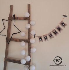 #slinger home zelf maken. Kidsroom, Cool Rooms, Feng Shui, Ladder Decor, Sweet Home, Living Room, Interior Design, Diy, Handmade