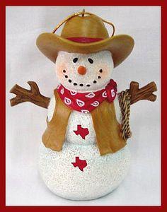 Cowboy Snowman Ornament
