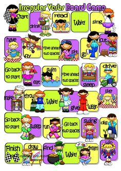 Irregular Verbs Board Game