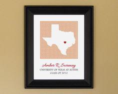 College Graduation Gift Personalized by CedarHouseKeepsakes