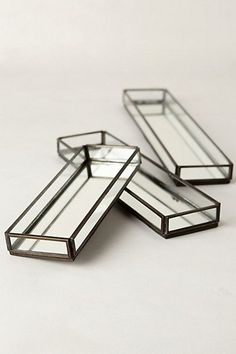 Mirrored Jewelry Trays - anthropologie.com #anthroregistry and I found these at Home Goods...