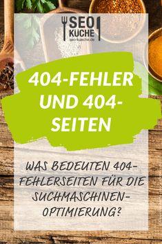 """Was bedeuten 404-Fehlerseiten für die Suchmaschinenoptimierung? Wir erklären es Euch in unserem Blobeitrag zum Thema """"404-Fehler und 404-Seiten – Erklärung und Tipps""""!  #seokueche #onlinemarketing Pinterest Profile, Seo Keywords, Content Marketing, Ecommerce, Social Media, Blogging, Search Engine Optimization, Infographic, Products"""