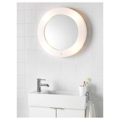 ikea lilljorm mirror with integrated lighting a mirror and lamp in one smart and space