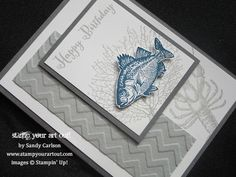 Birthday card made with By The Tide stamp set… Stampin' Up!® - Stamp Your Art Out! www.stampyourartout.com