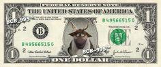 Disney's Sven (Frozen) on REAL Dollar Bill - 1.00 Celebrity Custom Cash