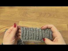 Pletený vzor Brioche 1. díl, Knitting brioche stitch - YouTube