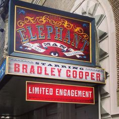 The Elephant Man starring Bradley Cooper at the Booth Theatre (Dec 7, 2014 - Feb 21, 2015)