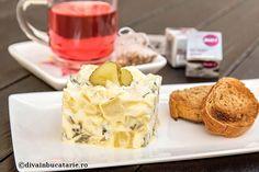 SALATE CU CARTOFI | Diva in bucatarie Romanian Food, Quick Easy Meals, Breakfast Recipes, Pudding, Cheese, Easy Recipes, Festive, Desserts, Salads