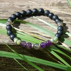 Our Men's Serenity + Sobriety Recovery Bracelet was created using gemstones helpful in maintaining sobriety, overcoming addictions and encouraging inner peace.